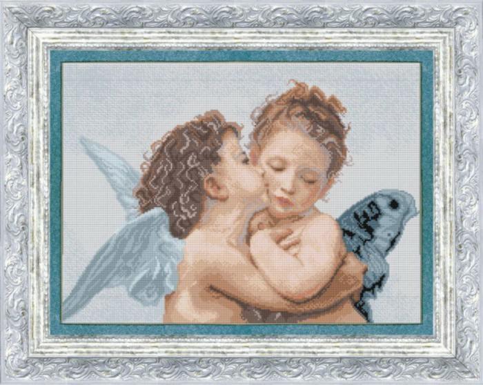 """Набор для вышивания крестом """"Чаривна Мить"""" № 409 Поцелуй 38*26"""