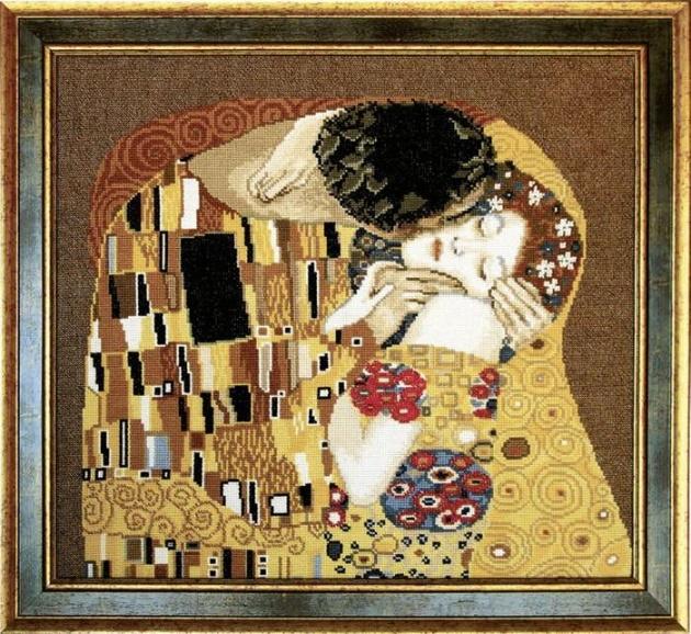 """Набор для вышивания крестом """"Чаривна Мить"""" № 411 Климт Поцелуй 42*38"""