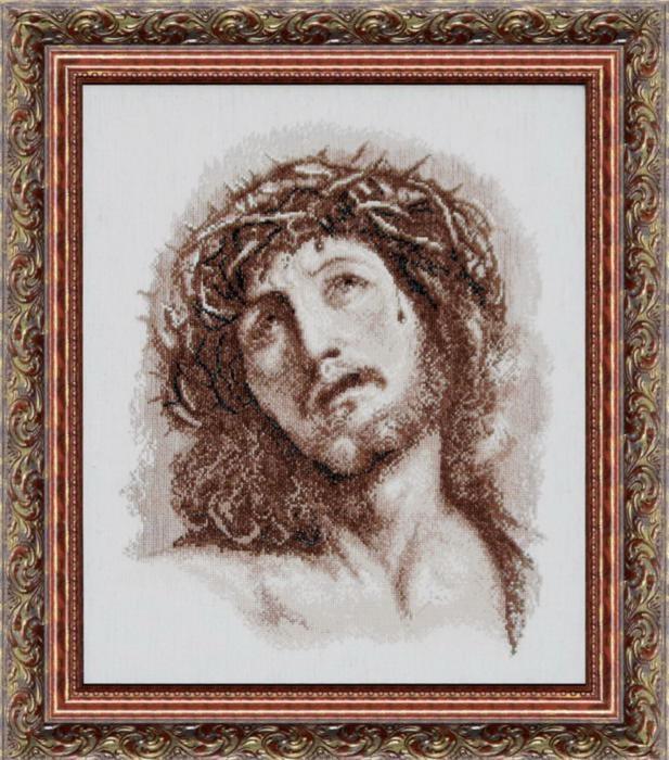 """Набор для вышивания крестом """"Чаривна Мить"""" № 417 Христос в терновом венке 36*40"""