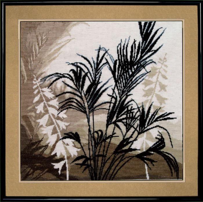 Набор для вышивки крестиком №425 Триптих Пальмовые листья