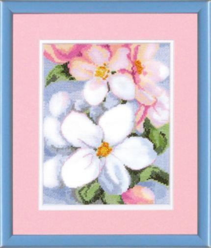 """Набор для вышивания крестом """"Чаривна Мить"""" № 428 цветы яблони 15*19"""