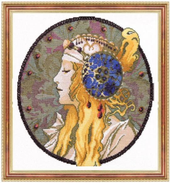 """Набор для вышивания крестом """"Чаривна Мить"""" № 432 А.Муха Блондинка 29,5*32"""