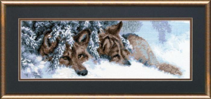 Набор для вышивки крестиком №436 Волки