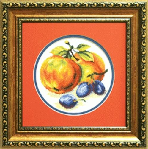 Набор для вышивки крестиком №442 Сливы с яблоками