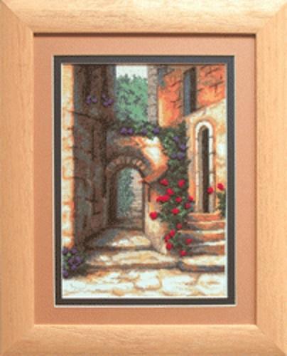 Набор для вышивки крестиком №454 Дворик с розами