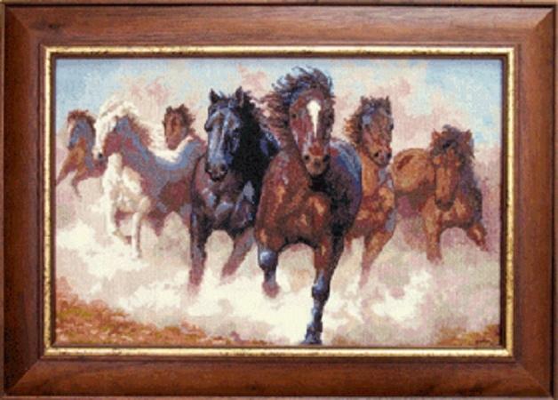 Набор для вышивки крестиком №470 Лошади