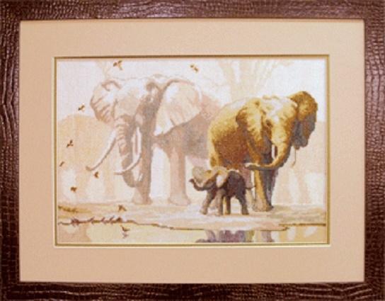 Набор для вышивки крестиком №475 Слоны