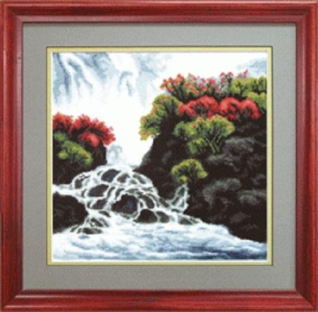 """Набор для вышивания крестом """"Чаривна Мить"""" № 485 Весенний водопад 25*25"""