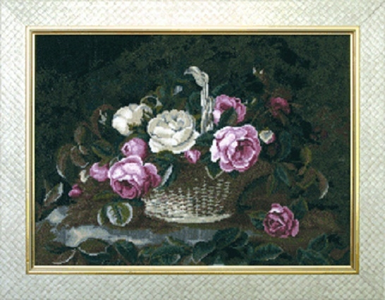 """Набор для вышивания крестом """"Чаривна Мить"""" № 518 Розы в корзине 39*28,5"""
