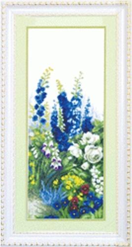 """Набор для вышивания крестом """"Чаривна Мить"""" № 519 Дельфиниум 1ч. 20*49"""