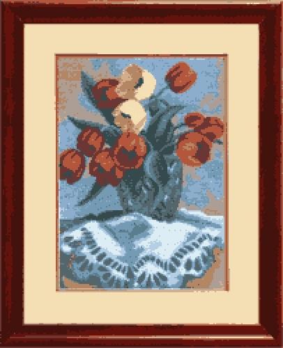 """Набор для вышивания крестом """"Чаривна Мить"""" № 541 Весенний букет 18,5*26"""