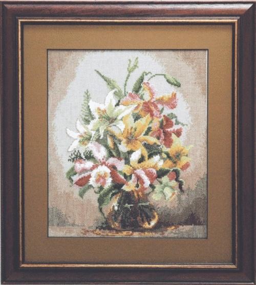 """Набор для вышивания крестом """"Чаривна Мить"""" № 590 Букет орхидей"""