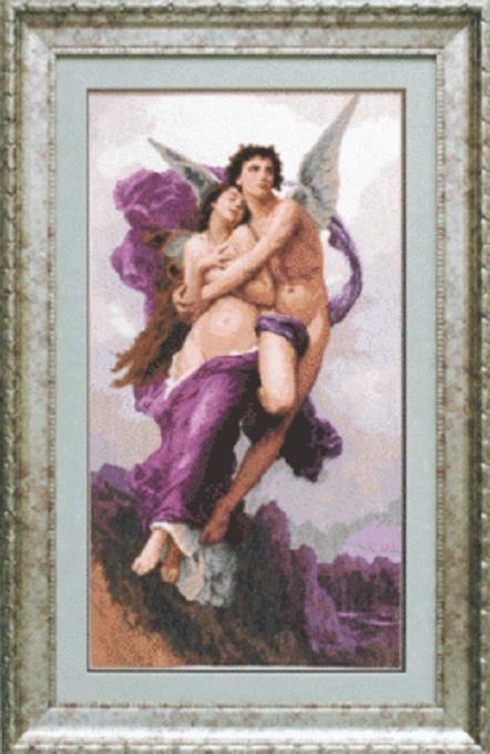 """Набор для вышивания крестом """"Чаривна Мить"""" № 593 По мотивам В. Бугро Амур и Психея"""