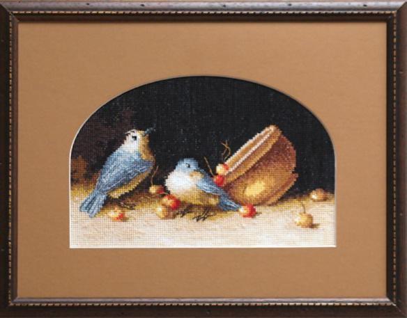 """Набор для вышивания крестом """"Чаривна Мить"""" № 539 Птички с черешней"""
