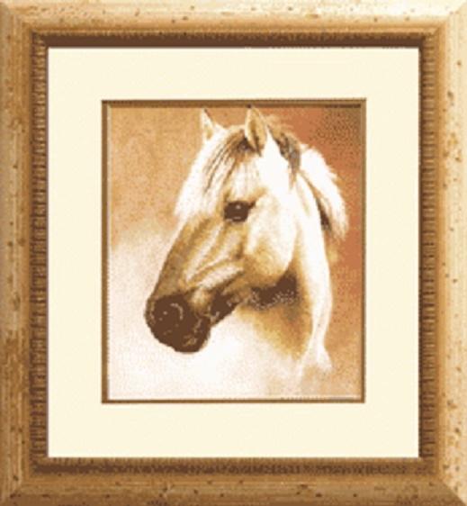 """Набор для вышивания крестом """"Чаривна Мить"""" № РК -007 Лошадь 21,5*26"""