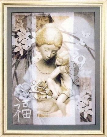 """Набор для вышивания крестом """"Чаривна Мить"""" № РК -036 Маленькая фея"""