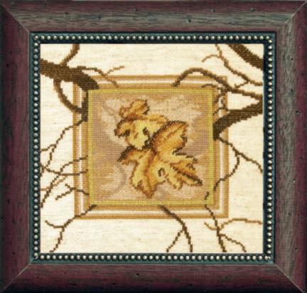 """Набор для вышивания крестом """"Чаривна Мить"""" № СТ -23 Кленовые листья 18*17 смешанная техника (мулине +бисер)"""