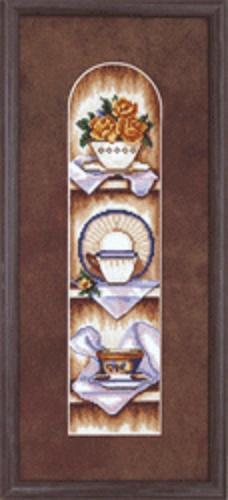 """Набор для вышивания крестом """"Чаривна Мить"""" № СТ -34 Посуда 18*33,5 смешанная техника (мулине +бисер)"""
