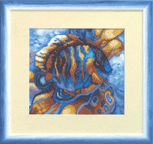 """Набор для вышивания крестом """"Чаривна Мить"""" № СТ -37 Тропическая рыбка 21*19 смешанная техника (мулине +бисер)"""
