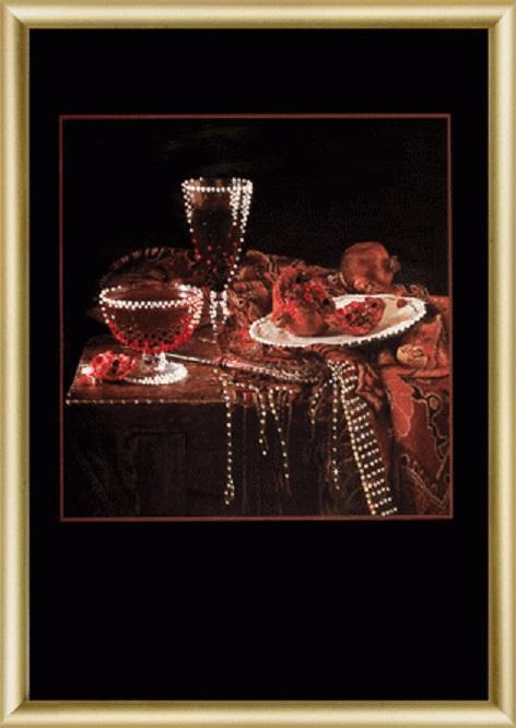 Картина стразами Натюрморт Пурпурный вечер КС-060 /feyamagazin.ru