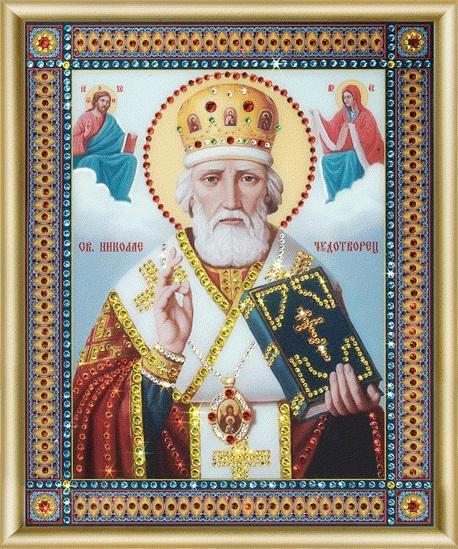 Набор картина стразами Икона Святителя Николая Чудотворца /feyamagazin.ru