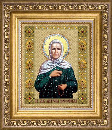 Набор картина стразами КС-118 Икона святой блаженной Матроны Московской/feyamagazin.ru