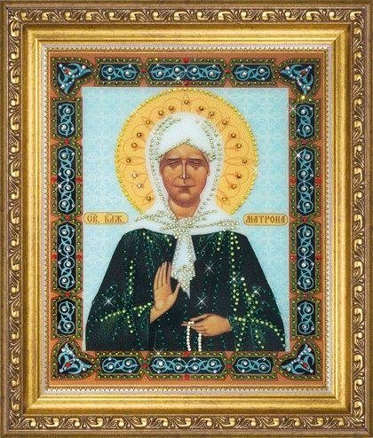 Набор картина стразами КС-129 Икона святой блаженной Матроны Московской/feyamagazin.ru
