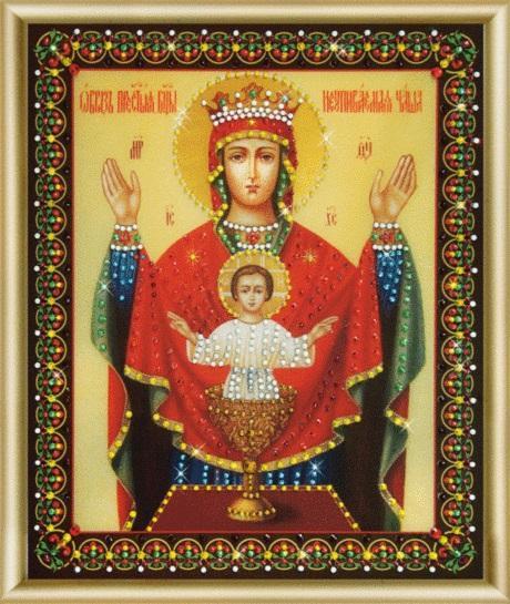 Набор картина стразами КС-149 Икона Божьей Матери Неупиваемая чаша/feyamagazin.ru