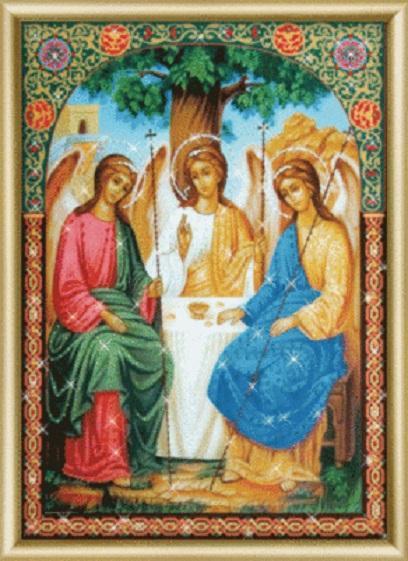 Набор картина стразами КС-180 Икона Пресвятой Троицы/feyamagazin.ru