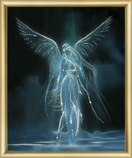 "Набор картина стразами Чарівна Мить КС-037 ""Ночной ангел""/feyamagazin.ru"