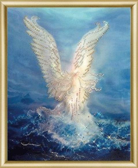 Набор картина стразами КС-084 Морской ангел/feyamagazin.ru