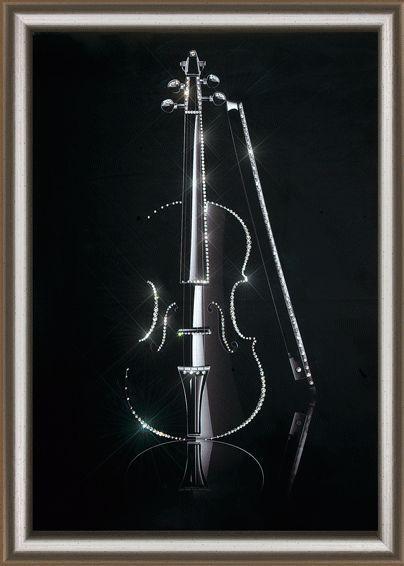 Набор картина стразами КС-137 Волшебная скрипка/feyamagazin.ru