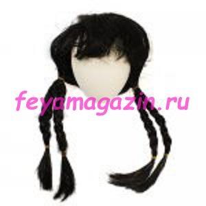 Волосы для кукол (косички) черные