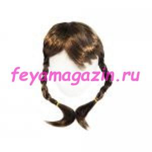 Волосы для кукол (косички) каштан