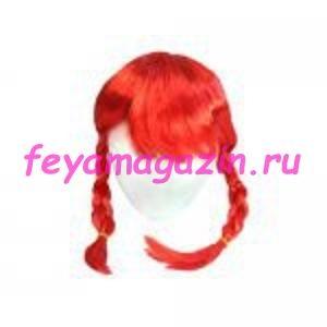 Волосы для кукол (косички) красные
