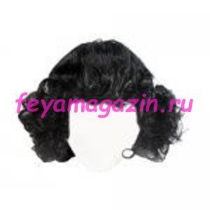 Волосы для кукол (локоны) черные