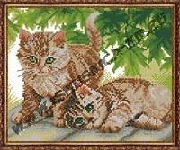 Симпатичные котята (набор для вышивания крестом)