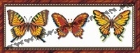 Бабочки желтые (набор для вышивания крестом)