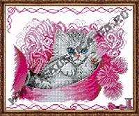 Котёнок в шкатулке (набор для вышивания крестом)