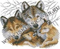Волки (набор для вышивания крестом)