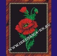 Красный мак (набор для вышивания крестом)