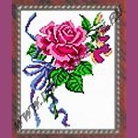 Розовая роза (набор для вышивания крестом)