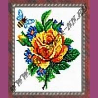 Желтая роза (набор для вышивания крестом)