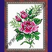 Розовый букет (набор для вышивания крестом)