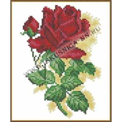Алая роза (набор для вышивания крестом)