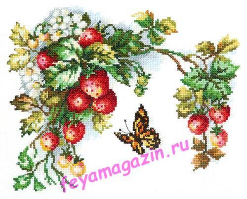 Чудесная игла 55-10 Земляника 25*19/feyamagazin.ru
