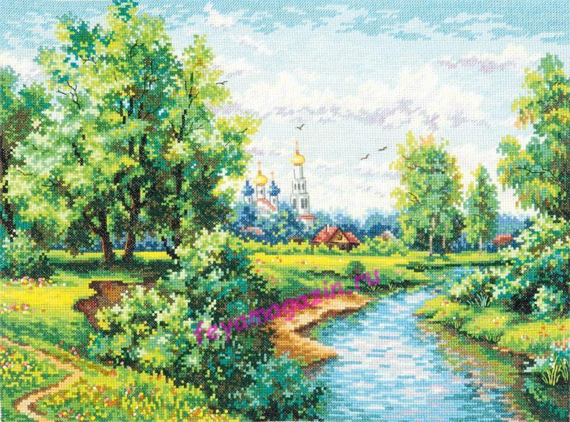 Чудесная игла 43-09 Благословенный край 30*41/feyamagazin.ru