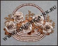 Корзина роз (Л-27) (Наборы для вышивания лентой)/feyamagazin.ru