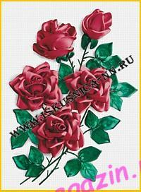 Букет роз (Л-20) (Наборы для вышивания лентой)/feyamagazin.ru