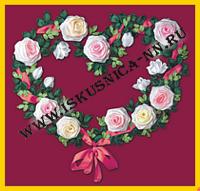 Цветущая любовь (Л-18) (Наборы для вышивания и плетения лентой)/feyamagazin.ru